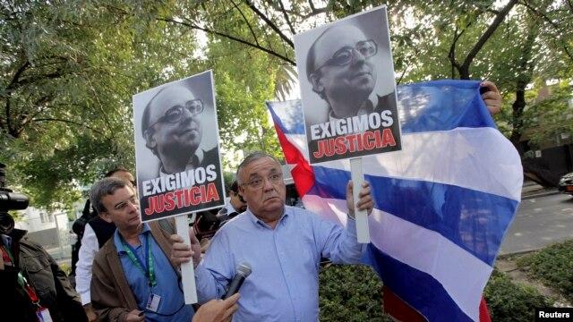 Protestas en Chile previa visita de Raúl Castro