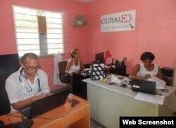 La oficina de Cubalex que fue allanada por la policía.