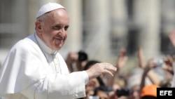 El papa Francisco, en la plaza de San Pedro, en el Vaticano