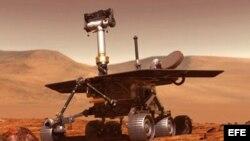 MIA69- 11/2/03- EXPLORACION DE MARTE- NASA (USA).- El robot explorador de Marte, Rover, saldrá en su misión hacia este planeta entre mayo y junio de 2003, en busca de rastros de agua en el suelo marciano. La imagen es una concepción artística del artefact