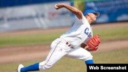 Miguel Lahera, lanzador cubano.