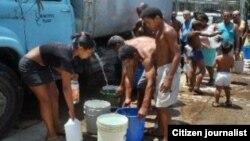 Santiago de Cuba tiene graves problemas de abastecimiento de agua. (Foto Cubanet).