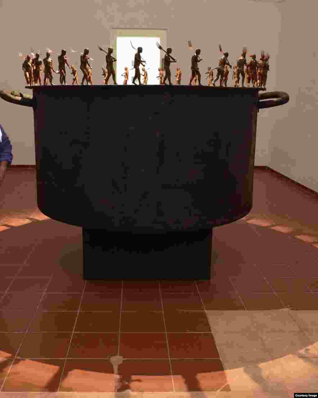 Obras de arte para la Bienal de La Habana.