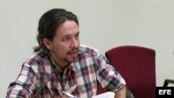 Pablo Iglesias, secretario general de Podemos y eurodiputado.