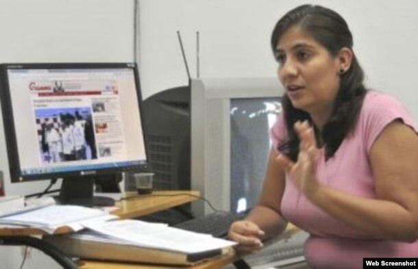 Karina Marrón, subdirectora del diario oficialista Granma.