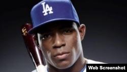 Yasiel Puig, jardinero derecho de los Dodgers.