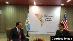 Rubio con el embajador de Estados Unidos en la OEA, Carlos Trujillo.