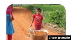 Reporta Cuba. Niños cubanos trabajando en el campo. Fotos: Leodán Suárez.