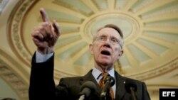 El líder de la mayoría demócrata del senado de los EE.UU., Harry Reid.