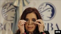 La presidenta de Argentina, Cristina Fernández de Kirchner.
