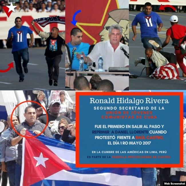 Detalles de la participación de Ronald Hidalgo Rivera en diversas actividades gubernamentales. (Composición).