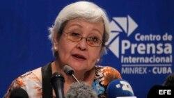 Rueda de prensa de la relatora de la ONU sobre derechos humanos y solidaridad internacional, Virginia Dandan.