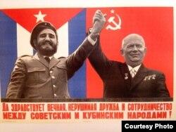 Cartel de solidaridad entre Castro y Jruschov