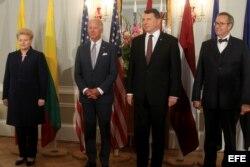 Joe Biden en Letonia.