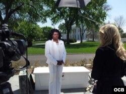 Berta Soler en la Casa Blanca