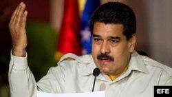 Maduro en reunión de consejos presidenciales en Caracas.