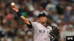 Foto de archivo del jugador de los Yankees de Nueva York, Alex Rodríguez.