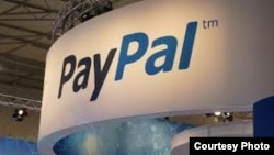PayPal stand.