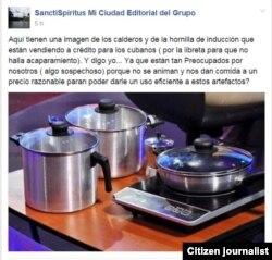 Reporta Cuba. Kit de cocina de inducción que se venderá en Cuba a la población. Foto: Facebook.