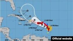 Pronóstico de trayectoria para el huracán María. (NHC)