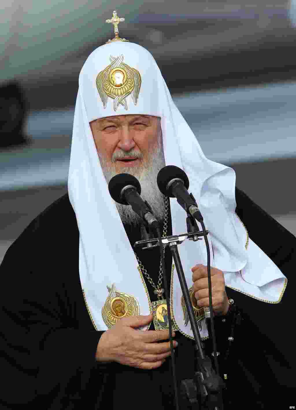 El patriarca de la Iglesia Ortodoxa Rusa Kiril, en La Habana.