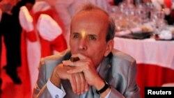 El presidente del Parlamento cubano Ricardo Alarcón durante la cena de gala en el cierre de la XIV edición del Festival del Habano.