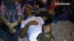 Dos trenes cruzan Macedonia cargados de inmigrantes