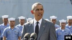 Barack Obama llega a Manila