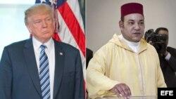 El presidente Donald Trump no recibió al rey de Marruecos, Mohamed VI.