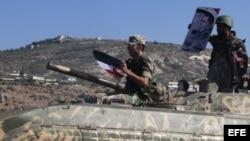 Fotografía de archivo de un tanque sirio.