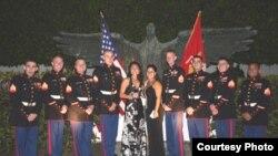 Marines en la residencia del jefe de la misión diplomática en Cuba.