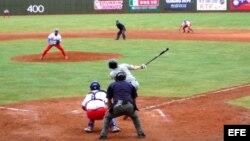 Cuba vs. Australia, durante un partido de la Copa del Mundo de béisbol en Taiwán.