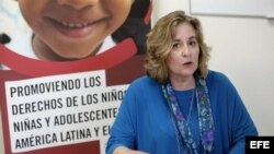 La directora regional de la Organización Save the Children, Victoria Ward.