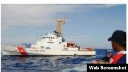 Oficiales de la Guardia Costera de Puerto Rico y EEUU intervinieron en el operativo de detención de los migrantes cubanos.