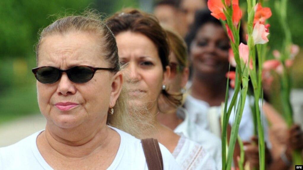 Laura Pollán, fallecida líder del movimiento opositor femenino Damas de Blanco. (Archivo)