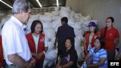 John Kerry anunció la suma de 26,4 millones de dólares a la ayuda a Filipinas