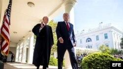 El presidente Donald Trump y el juez Anthony Kennedy