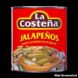 Jalapeños. La Costeña. México.