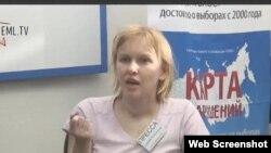 Elisaveta Klimovich, denuncia golpizas en centros electorales