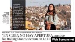Rosa María Payá realiza una gira para promover la realización de un plebiscito en Cuba.
