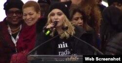 Madonna en Marcha de las Mujeres en Washington.