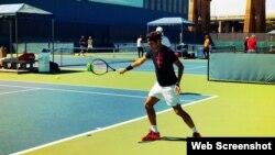 Federer practicó este sábado en la Academia John McEnroe en Nueva York.