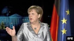 La canciller alemana Angela Merkel. Archivo.