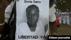 Reporta Cuba. Las Damas de Blanco piden por la libertad de Sonia Garro.