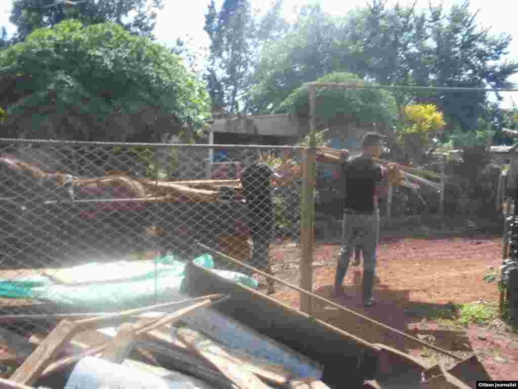 Desalojos masivos en La Cachimba, Artemisa. Jorge Bello de la Red Cubana de Comunicadores recorre el lugar.