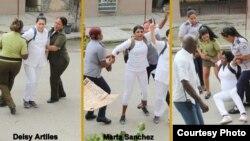 Damas de Blanco son a menudo arrestadas y llevadas a estaciones policiales (Foto Angel Moya)