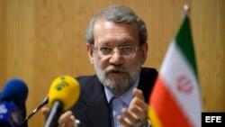 Jefe del parlamento iraní Ali Larijani.