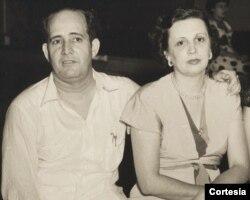 Mariano Esteva Lora y su esposa Mercedes