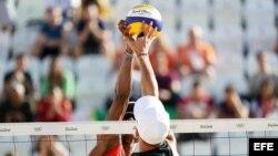 Cuba derrotó este viernes a Austria en voleibol de playa en Río de Janeiro.