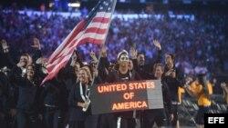 Delegación de EEUU en la ceremonia de inauguración de los Panamericanos 2015